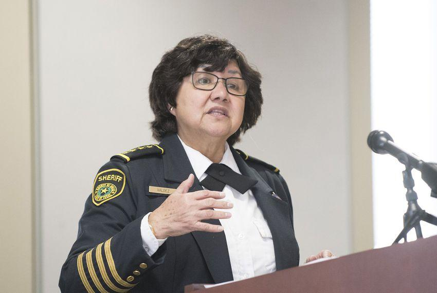 Dallas County Sheriff Lupe Valdez speaks at a law enforcement panel discussion of Senate Bill 4 the so-called Sanctuary Cities Bill in Austin in February