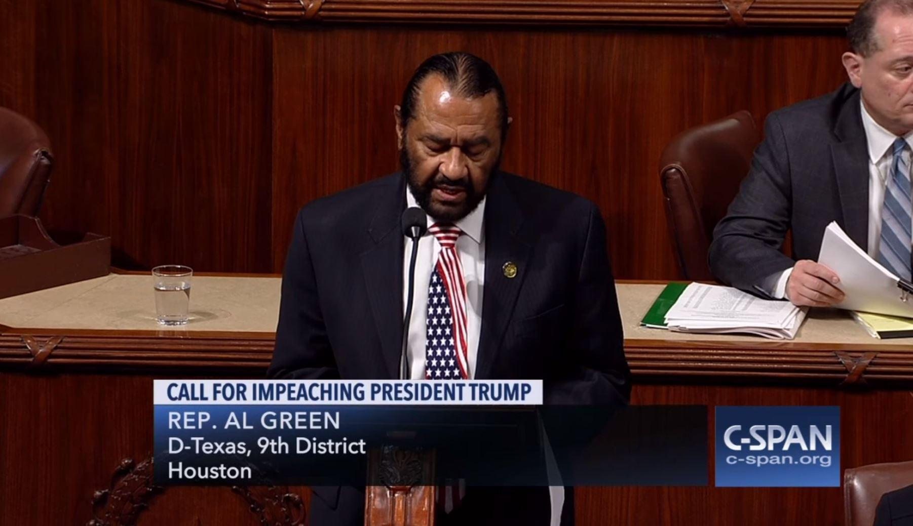 House overwhelmingly votes to defeat Democrat's bid to impeach President Trump