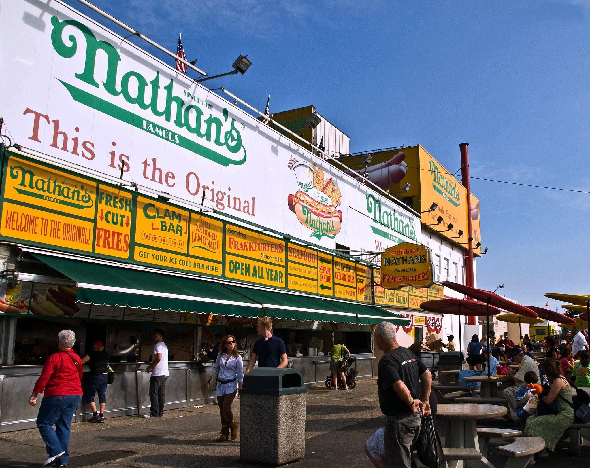 Coney Island Hot Dog Stand Menu