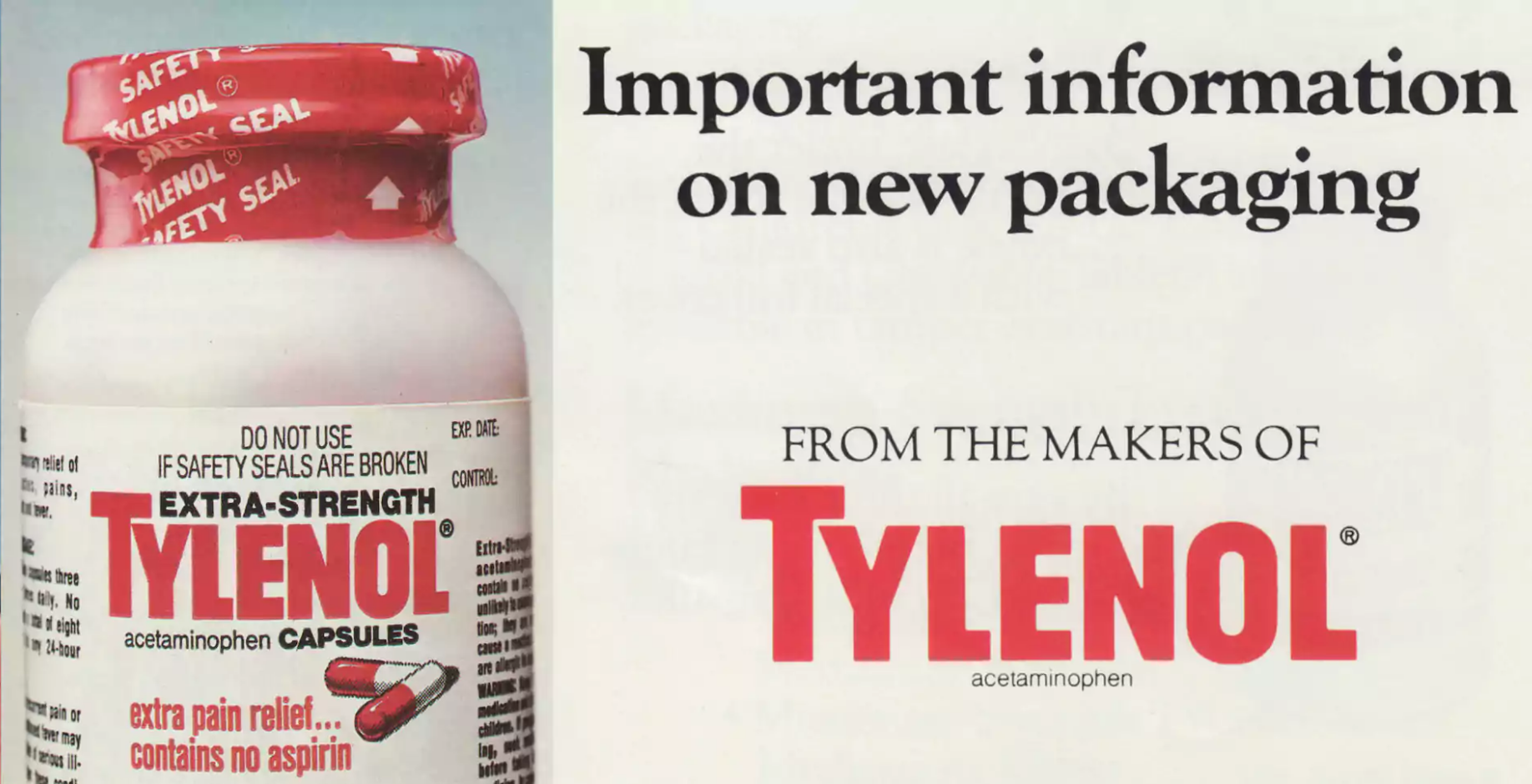 the tylenol murders The incidents on the morning of september 29, 1982, twelve-year-old mary kellerman of elk grove village, illinois, died after taking a capsule of extra-strength tylenol adam janus of arlington heights, illinois, died in the hospital shortly thereafter adam's brother.