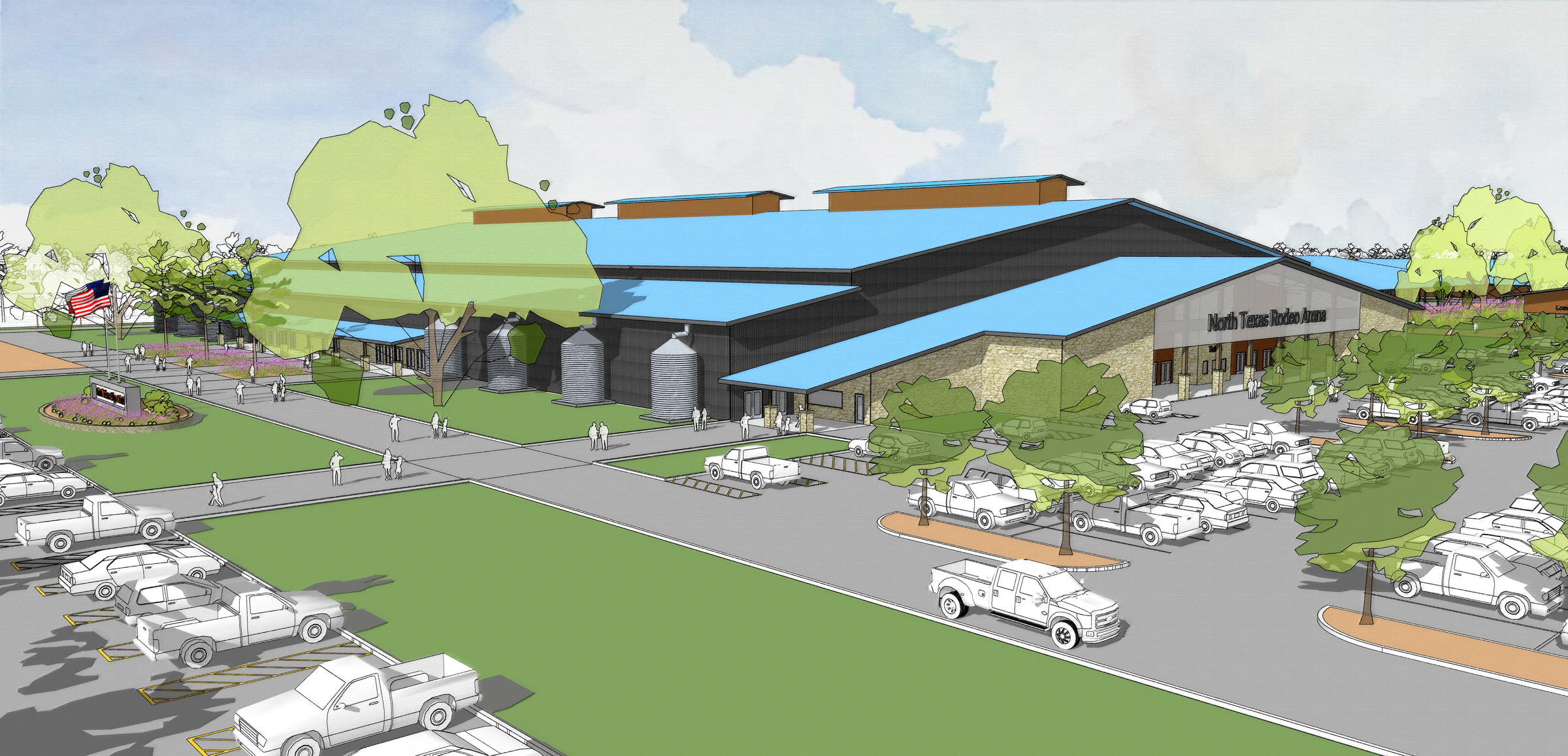 A Rendering Of The Competition Arena Building Thatu0027s Part Of The Planned  North Texas Expo Center In Denton, Texas.