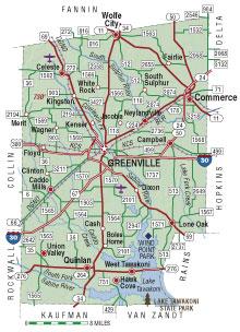 Hunt County Texas Map