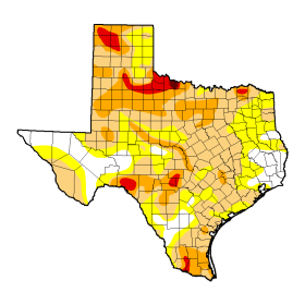 Texas Drought Monitor for Oct. 22.