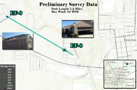 Collin County experienced an EFo tornado on April 3.