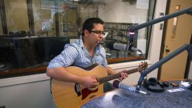 Vince Lujan performing live in-studio during the May 28th edition of Notably Texan