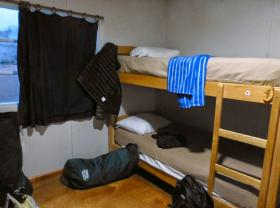 How much personal space are you accustomed to? Hostel stays get you elbow to elbow with your bunkmates at Refugio Las Torres in Chile.