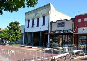 Old Knight's Head Inn is slowly caves in on Main Street in Downtown Sulphur Springs.