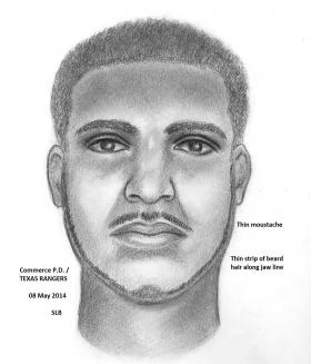 Commerce police have issued a sketch of a man sought in connection with a report of an attempted kidnapping in April.
