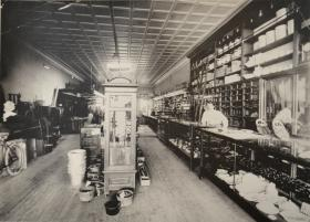 Henslee Hardware began in 1887 from meager start under a tent by owner John Franklin Henslee with a $500 inventory with everything from whiskey and nuts and bolts to caskets, farm implements and dynamite.