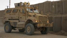 This is a Mine Resistant Ambush Protected Vehicle similar to the one recently acquired by the Hunt County Sheriff's Office.
