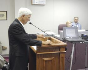 David Bench, YMCA Support Committee Chairman, appeared before the Greenville City Council Tuesday, prior to the council voting to approve the creation of a recreation/event center.