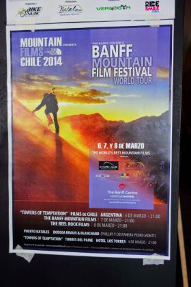 A promotional poster for the touring Banff Mountain Film Festival