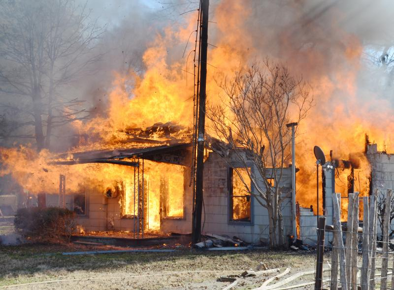 Delta County house fire, 1/3/11.