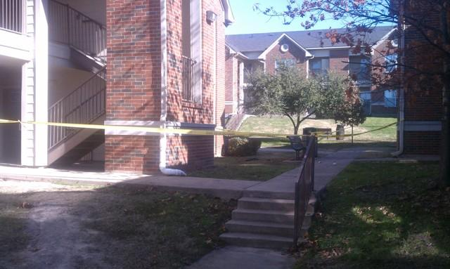 Caution tape outlines the scene of the Jan. 6 incident at New Pride Apartments on the Texas A&M University-Commerce campus.