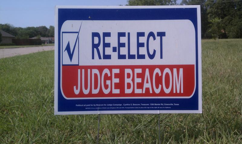 With victories in Hunt and Rains counties this week, Richard Beacom will once again preside over the 354th District Court.