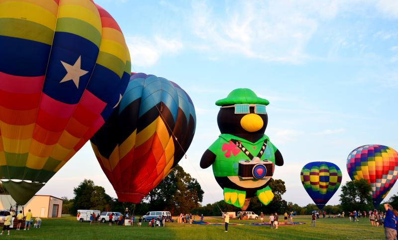 The annual Hot-Air Balloon Rally and Glow at the 2012 Hopkins County Dairy Festival.