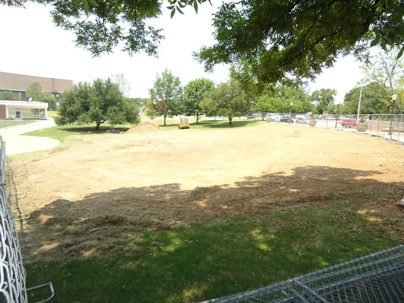 Looking northwest, site of the new amphitheater.