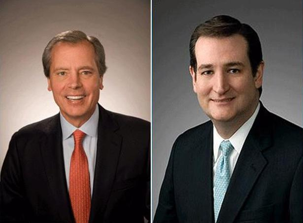 (L to R) David Dewhurst and Ted Cruz