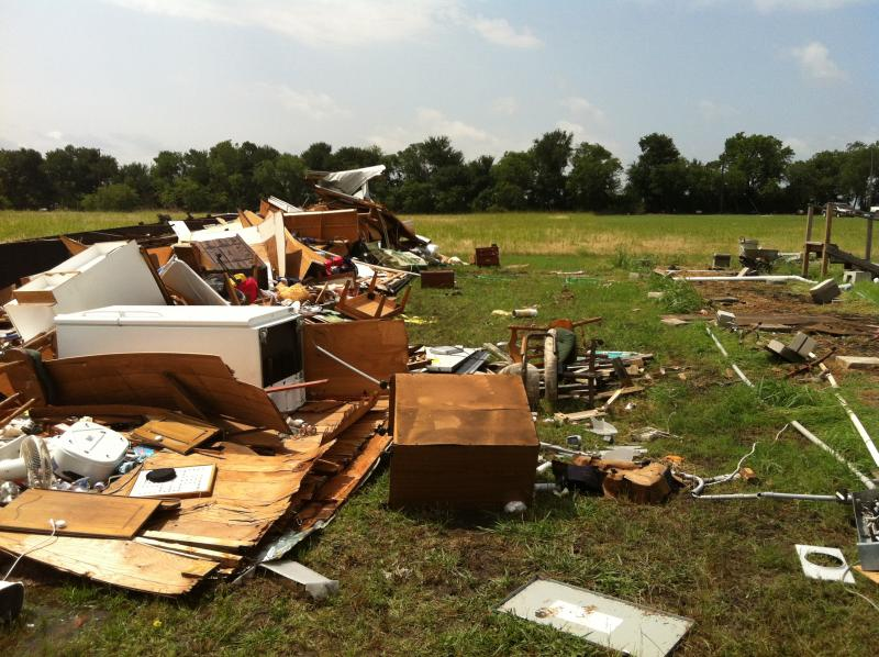 Home damage in Fannin County