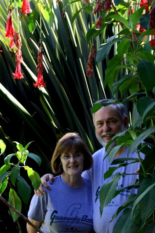 Alton Biggs and his wife Louise enjoyed the lush vegetation and the cool climate of Costa Rica's cloud forest.