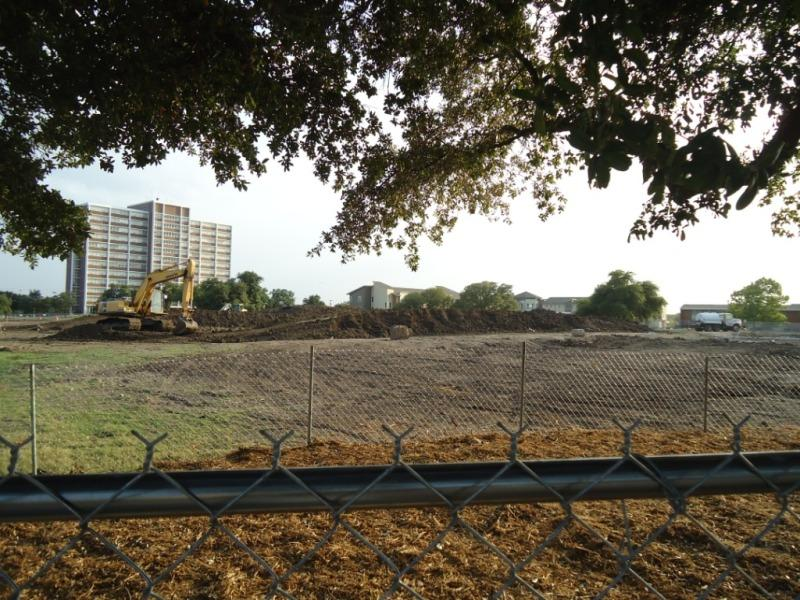 Vacant lot following dorm demolition
