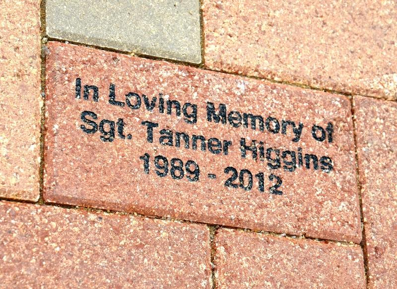 Brick paver for Tanner Higgins at the Hopkins County Veterans Memorial.