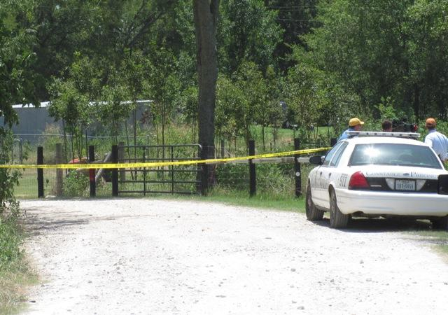 Caution tape near Cody Lane shooting