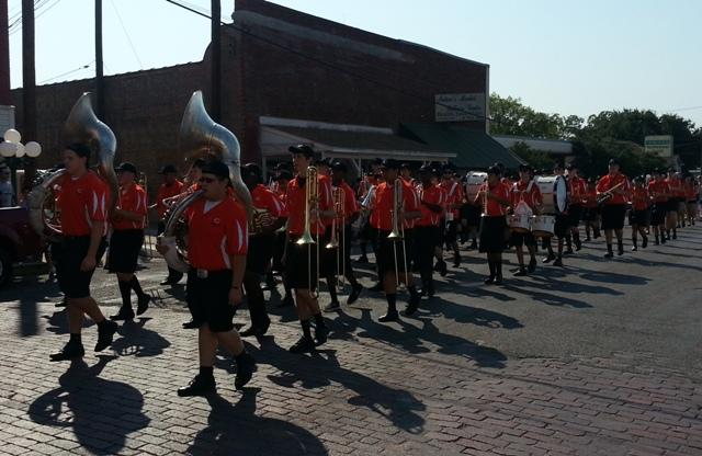 The Commerce Tigers Marching Band