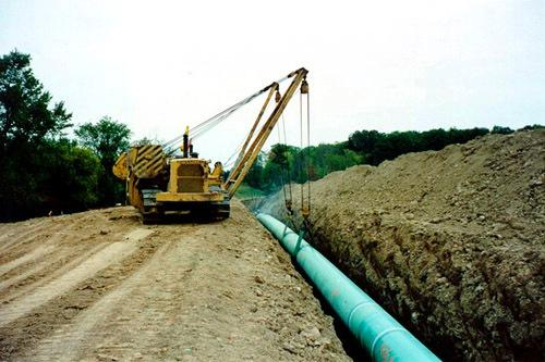 After crews dig trenches in Lamar County, they'll lower the pipeline