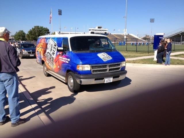 The KETR Van made an appearance in the 2012 Lions Homecoming Parade