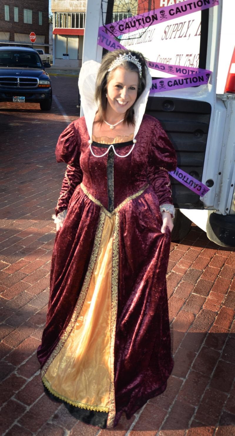 Carol Lowery gets into the holiday season for Trunk o' Treat on the Square in Cooper.