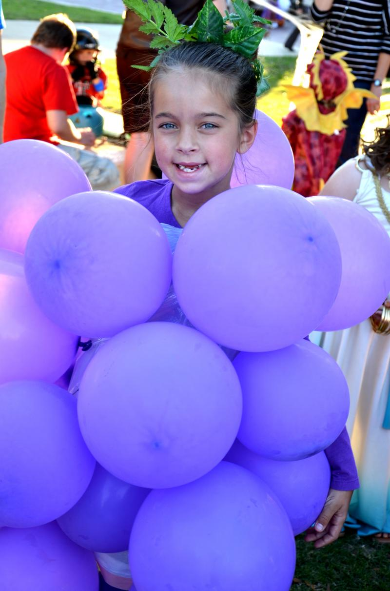 Madison Murray's creative grape costume won the 4-8 year old division at Cooper's Trunk o' Treat event on Halloween.