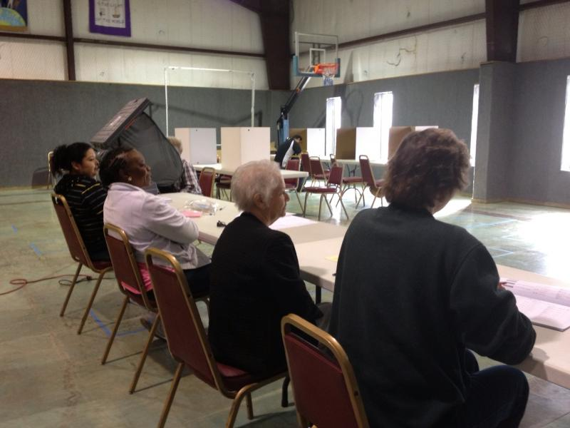 The polling place at Westview United Methodist Church in Greenville, TX.