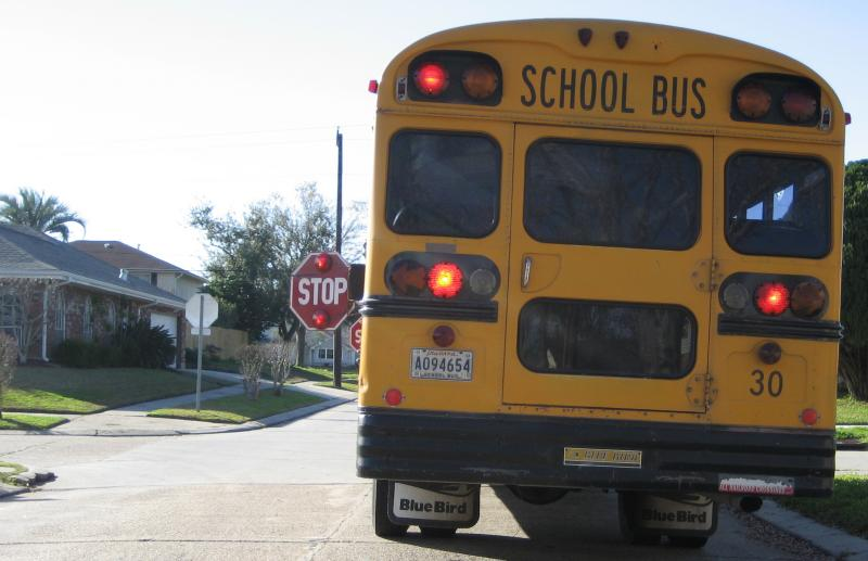 School Bus Stopped in Terrytown, Louisiana