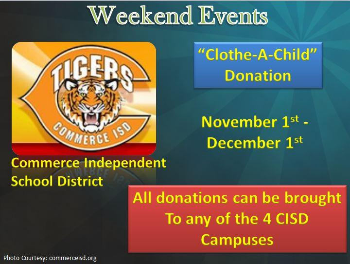 Clothe-A-Child Donations