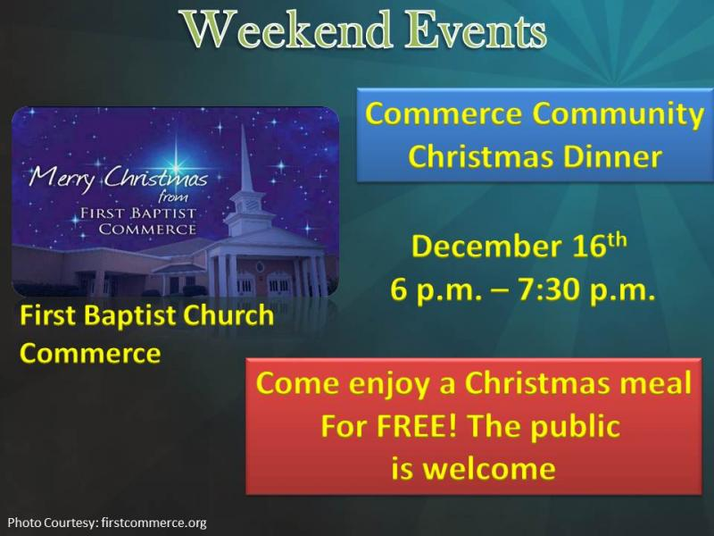 Commerce Community Christmas Dinner
