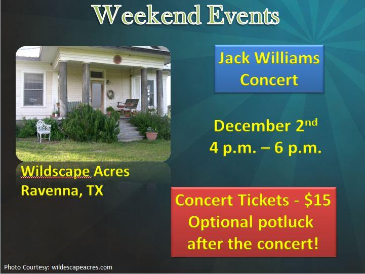 Jack Williams - Harmony House Concert