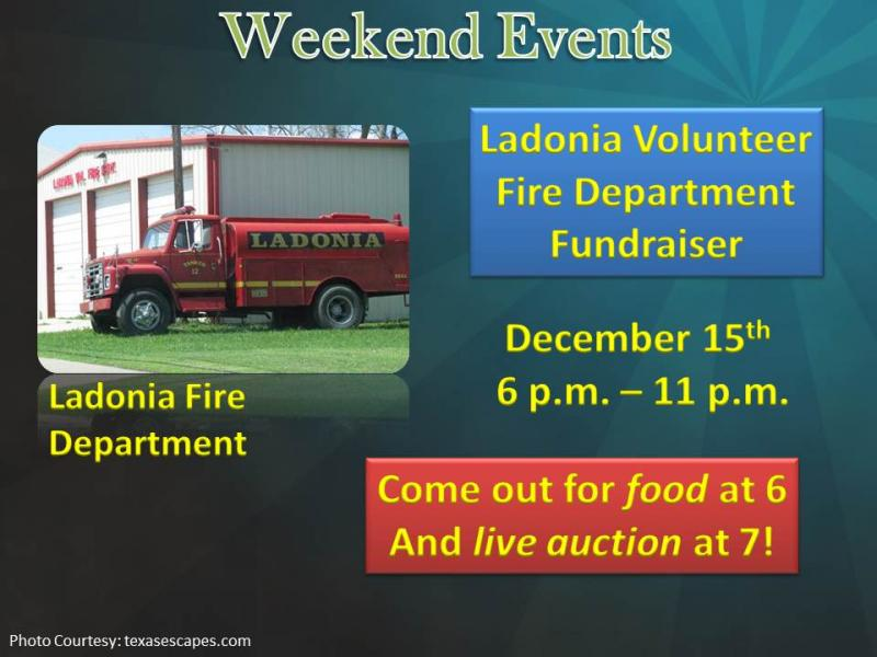 Ladonia Volunteer Fire Department Fundraiser