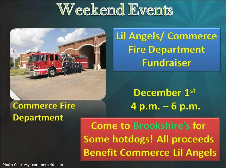 Commerce Fire Department/Lil Angels Fundraiser