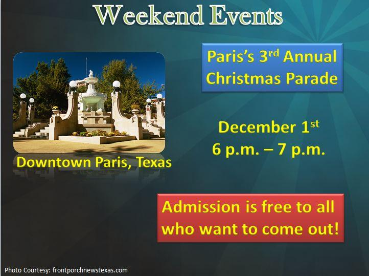 Paris's 3rd Annual Christmas Parade