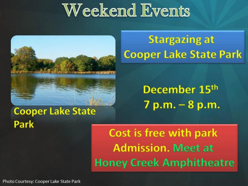 Stargazing at Cooper Lake State Park