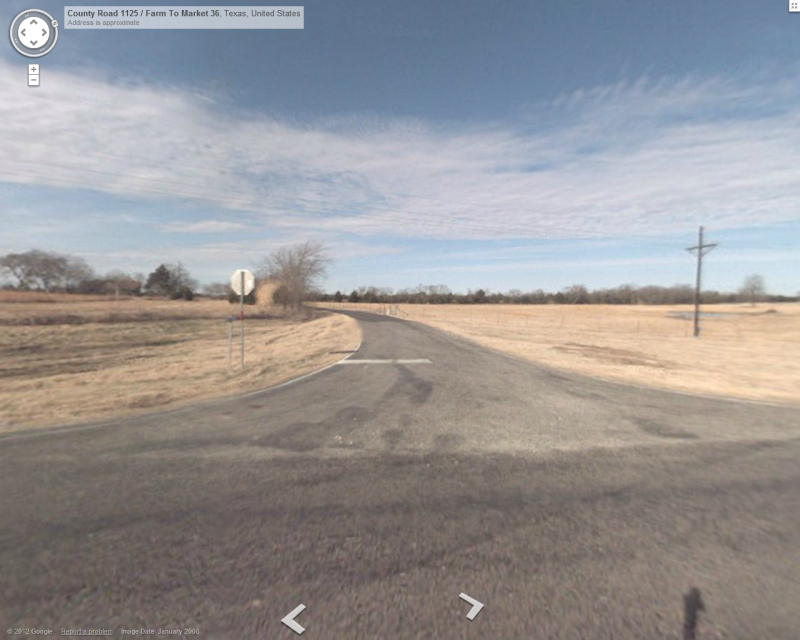 FM 36 and County Road 1125, Merit, Texas