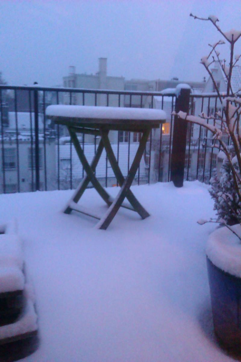 Site Viewer's Wintry Balcony in Amsterdam!