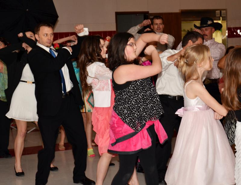 "Fathers and daughters enjoyed a night full of dancing - including the ""wobble"" - at the ""That's my girl"" dance Feb. 9 in Hopkins County."