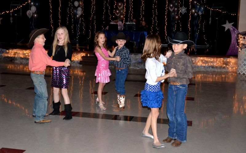 Many elementary-school students enjoyed the tunes played by DJ Brad Moody Feb. 16 at the Winter Wonderland Family Dance in Cooper.
