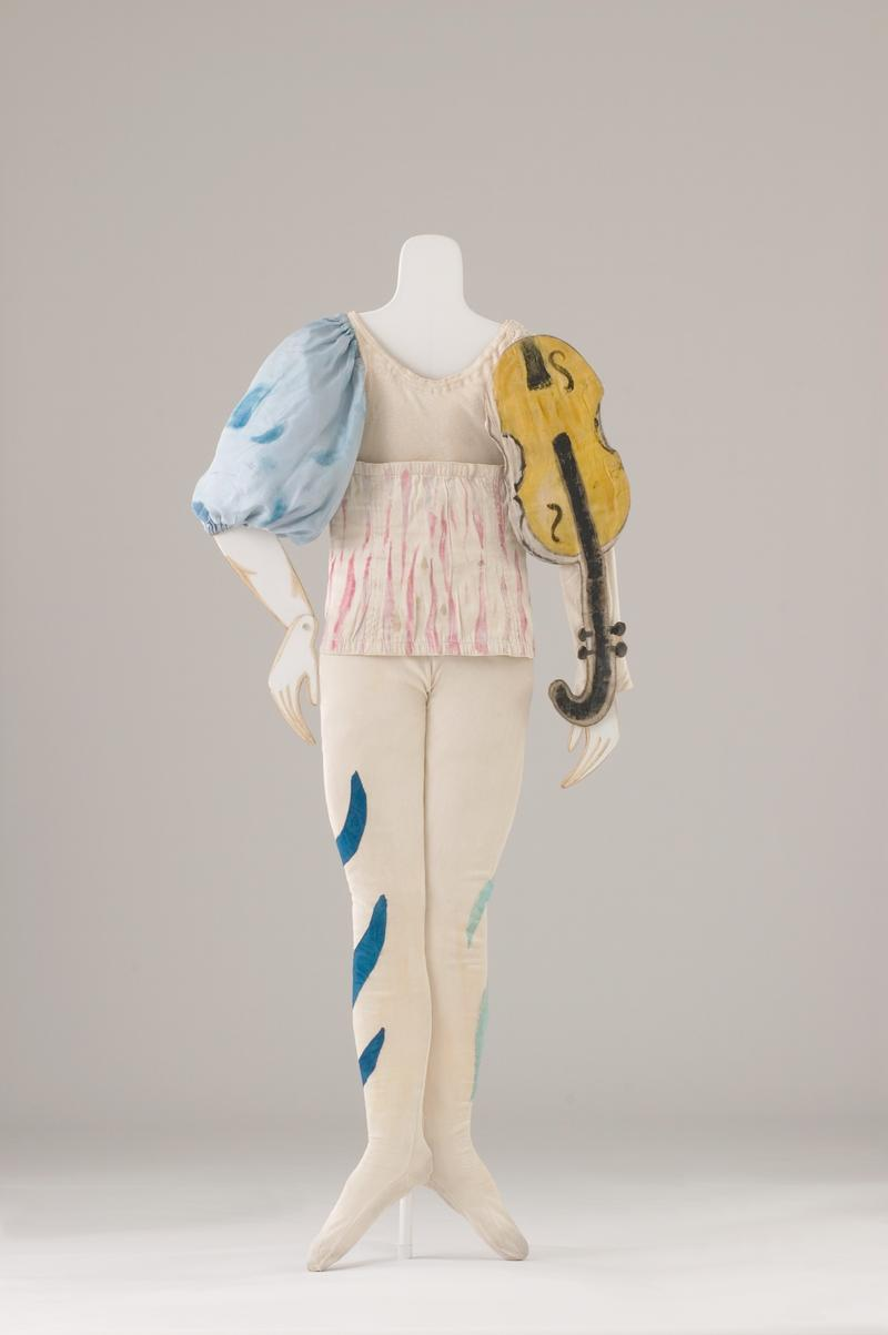 Costume for a Clown (Aleko Scene II), 1942. Marc Chagall, 1887–1985. Painted cotton jersey dress, cotton gabardine with applications, and taffeta silk blouse. Private collection.
