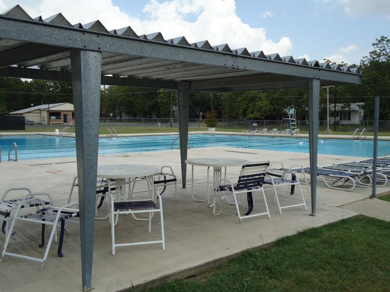 The Commerce city pool at 1900 Park St., adjacent to City Park.