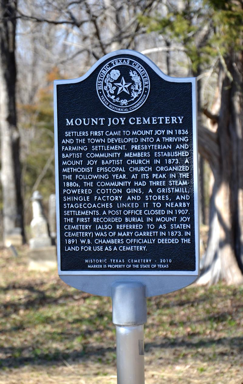 Mount Joy's historical marker.