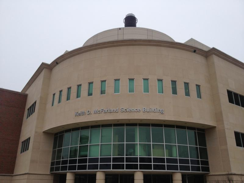 The Keith D. McFarland Science Building hosts three academic departments and a planetarium.
