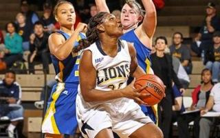 Breanna Harris of the Lions' women's basketball team.